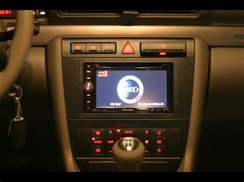 hayes car manuals 2000 audi a4 navigation system how to remove and install a dvd double din nav radio in a 2000 2008 audi a4 youtube