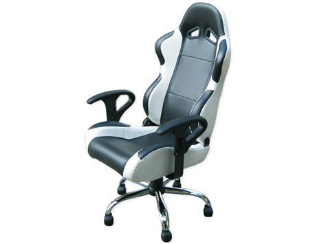 chaise design cuir noir siege baquet fauteuil de bureau chaise de bureau baquet simili cuir noir blanc ebay