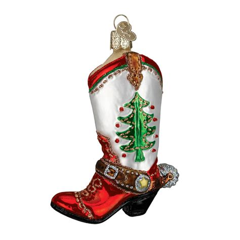 christmas cowboy boot ornament traditions