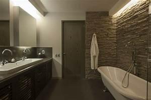 idee salle de bain moderne 60 idees comment la decorer With salle de bain design avec evier en pierre naturelle