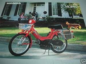 1982 Honda Pa50 Moped Factory Brochure New Nos