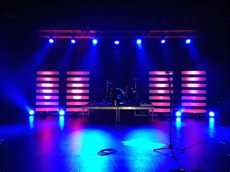 floating lines church stage design ideas