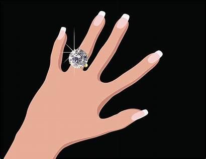 Ring Finger Clip Vector Engagement Illustrations Cartoons