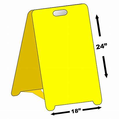 Blank Sign Board Sandwich Standing Signs Proof