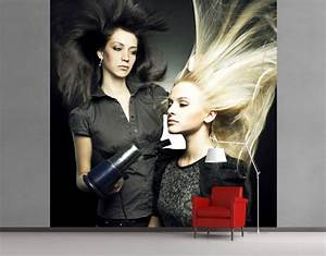 Fleece wall mural beauty salon wallpaper