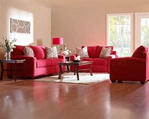 Modern Home Red Living Room Furniture Ideas