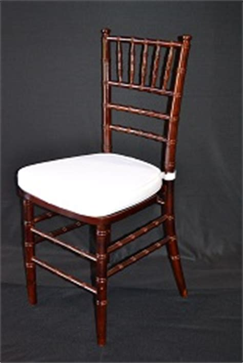 resin mahogany chiavari chairs mahogany resin chiavari chair with ivory cushion