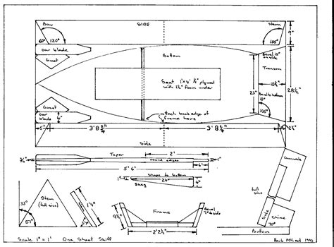 Skiff Boat Drawings by Sailing Skiff Plans One Sheet Skiff Free Plans Goat