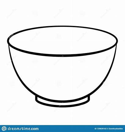 Cereal Bowl Clipart Empty Outline Icon Vector