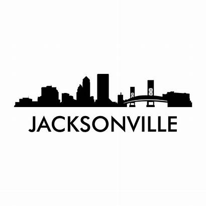 Skyline Jacksonville Decal Cities Decals