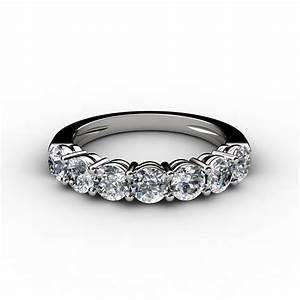 1 ct 7 stone round cut diamond anniversary band ring With diamond wedding anniversary rings