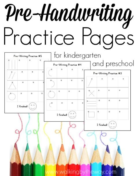 free pre writing pages for preschool and kindergarten