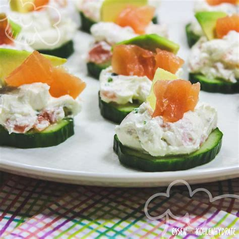 gurken lachs haeppchen essen ohne kohlenhydrate