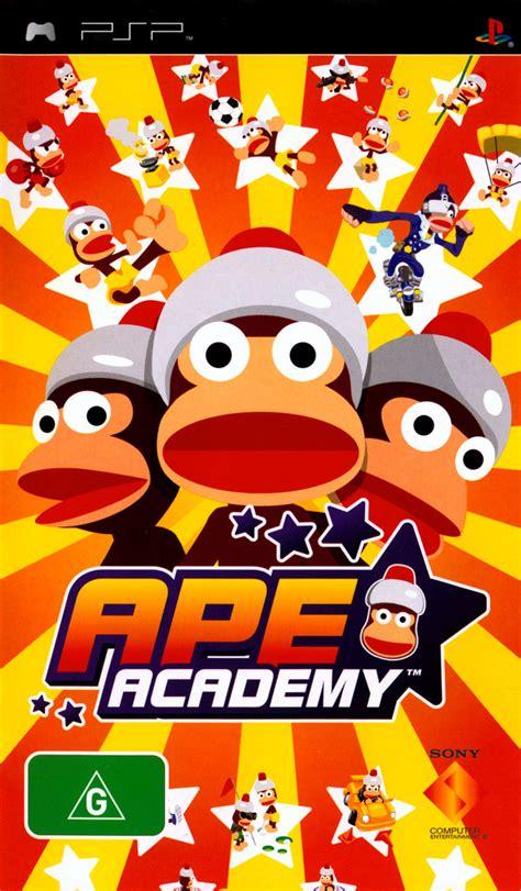 ape escape academy  psp box cover art mobygames