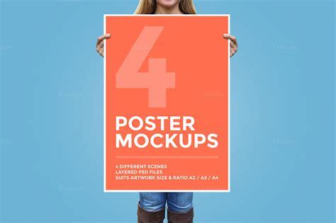 Poster Mockup 30 Best Realistic Poster Frame Psd Mockups