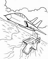 Coloring Veterans Pilot Fighter sketch template