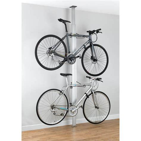 ceiling bike rack silver aluminium floor to ceiling bike rack