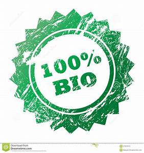 100% Bio Stamp Stock Photos