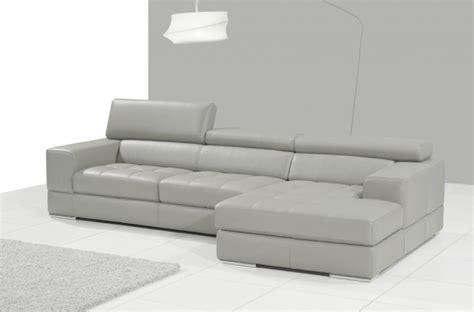 canapé cuir gris clair canapé d 39 angle en cuir italien 5 places perle gris clair