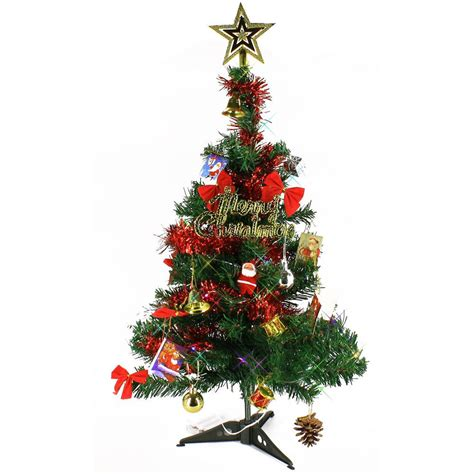 mini tree 24 artificial lighted pine small tabletop led lights ebay