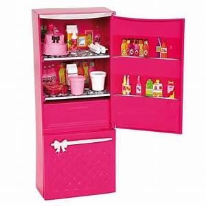 Mattel Barbie Glam Refrigerator Kitchen Food Accessories Set