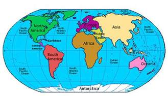 Global Map Continents