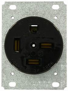 Leviton 8460 60 Amp  250 Volt  Flush Mounting Receptacle