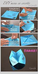 Ce Jour De Fete  U2022 Diy Du Menu Cocotte En Papier