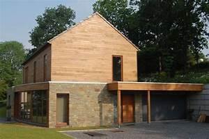 maison bioclimatique sur terrain en pente architecture With implantation maison sur terrain en pente