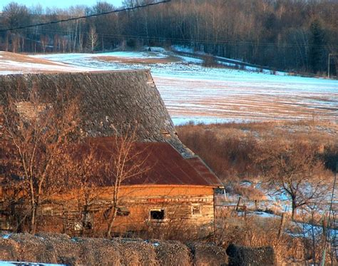 Bill's Barn On A Winter Afternoon