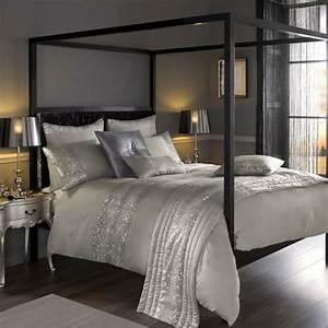 Lit baldaquin pour une chambre de deco romantique moderne for Idee deco cuisine avec lit king size