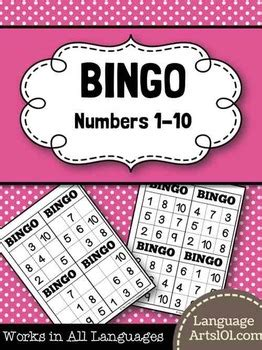 bingo numbers    languagearts teachers pay teachers