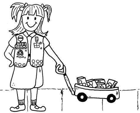 Free Daisy Girl Scout Promise Coloring Pages Printable