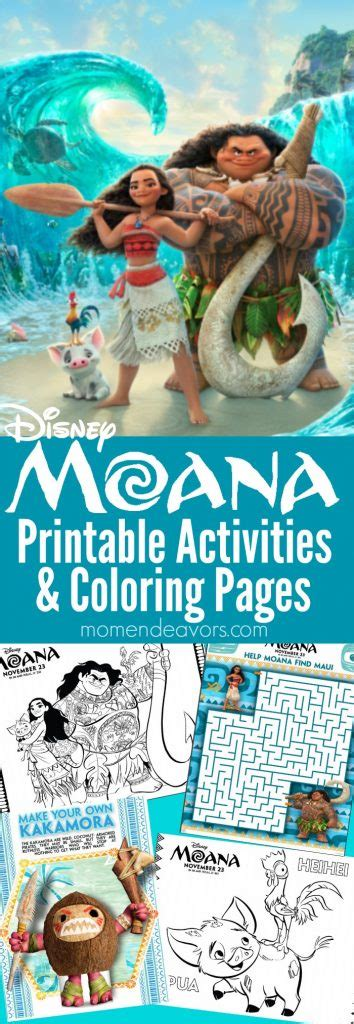 moana printable activities coloring pages