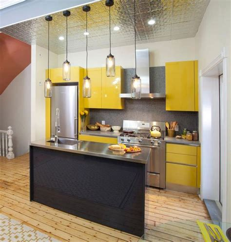Small Kitchen Design In Yellow Blue Shades by Yellow Kitchen Ideas Design Techniques For Bright And