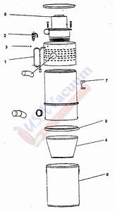 Hoover S5630 Central Vacuum System Canister Parts