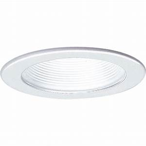 Recessed lighting trim sizes : Progress lighting in white recessed baffle trim p