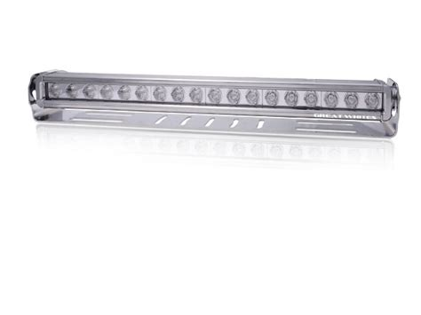 nuts about 4wd great white 18 led bar driving light chrome