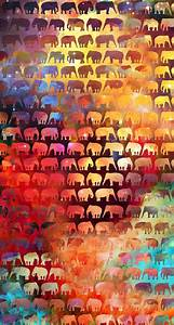 Colorful elephant wallpaper | Wallpaper ideas- iPhone ...