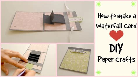paper craft gift ideas how to make a waterfall card diy crafts scrapbooking 5082