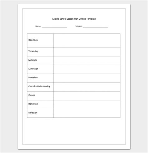 College Lesson Plan Format - College lesson plan template