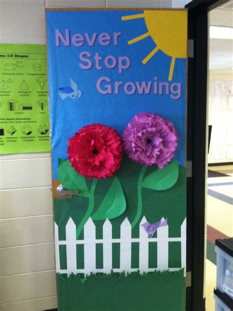spring classroom door craft school ideas other