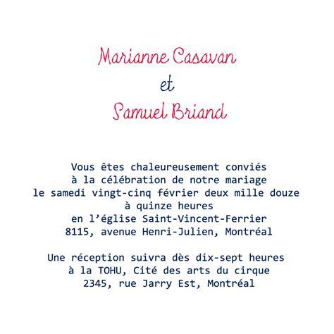 carte d invitation mariage texte exemples de texte pour le faire part les mariages d am 233 lie