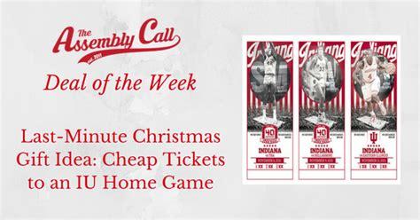 minute christmas gift idea cheap    iu basketball home game iubb