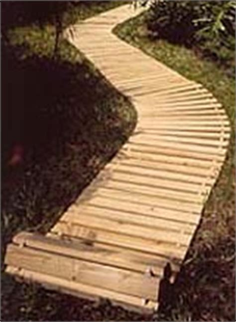 roll out and modular wood walkways and decks