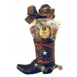 cowboy boot gift planter gift baskets for him recipient gourmet baskets and gifts