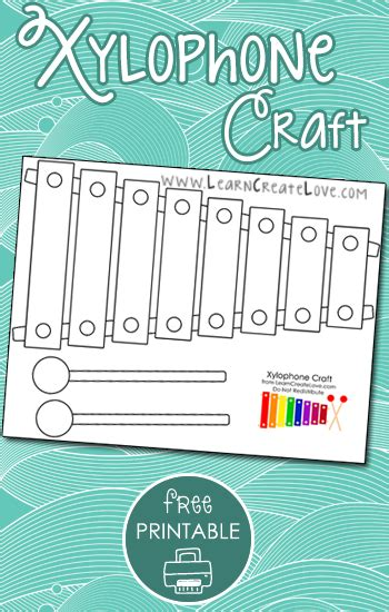 printable xylophone craft  images alphabet