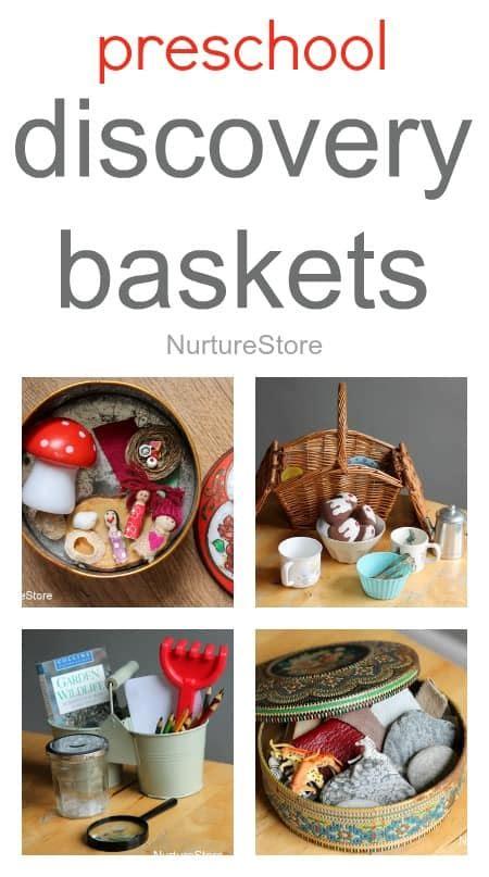 discover and learn preschool preschool discovery baskets nurturestore 316