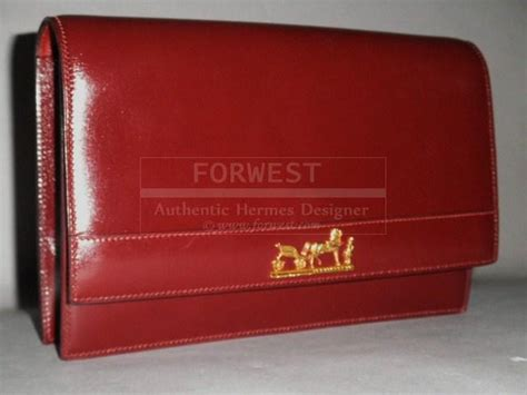Authentic Hermes Vintage Sac Eugenie Rouge H Logo Clutch