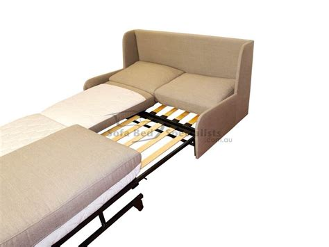 armless double sofabed  timber slats sofa bed